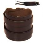 Стильный коричневый браслет из натуральной кожи в два оборота