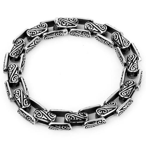 Стильный браслет с декорацией завитых линий для повседневного стиля