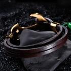 Морской браслет с крупным якорем