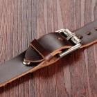 Браслет из натуральной кожи коричневый в виде полоски