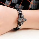 Браслет накидной крест длиной 19,5 см из натуральной кожи