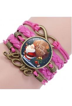 "Браслет ""Pink Brown Santa"""