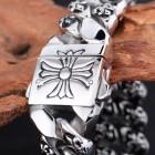 Мужественный браслет с витеиватыми линиями в виде лилий