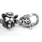 Потрясающий стальной браслет из фигурок в шляпках