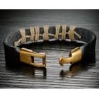 Стильный армейский браслет длиной 20 см коричневого цвета