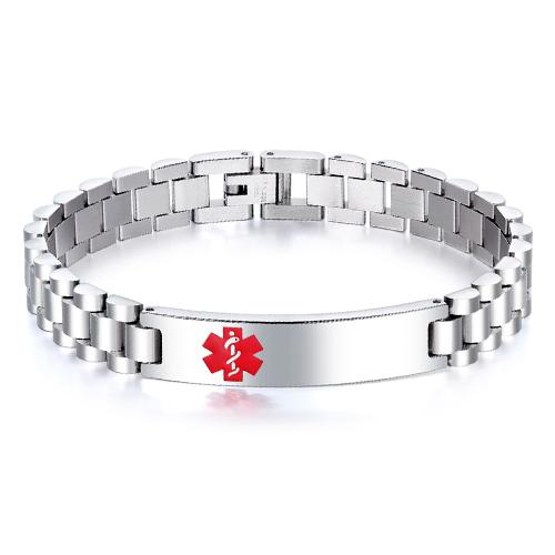 Стальной браслет для гравировки с международной эмблемой Star of Life