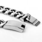 Классический браслет в виде цепочки с стильным надежным коробчатым замком