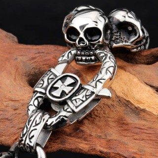 "Браслет ""Triple Skulls"""