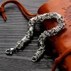 Стальной браслет 20 см византийское плетение