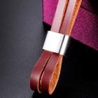 Браслет кожаный с якорем для мужчин