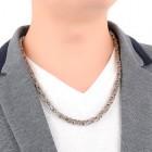 Стильная мужская византийская цепочка на шею