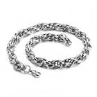 Тонкая цепочка в виде змеиных чешуек длиной 52 см