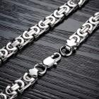 Стильная массивная цепочка из стали для мужчин длиной 56 см
