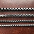 Черненая цепочка якорного плетения 3 или 4 мм