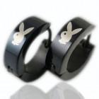 Черные серьги с изображением Playboy