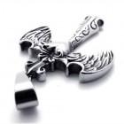 Кулон в виде ангельских крыльев с сердечком по центру