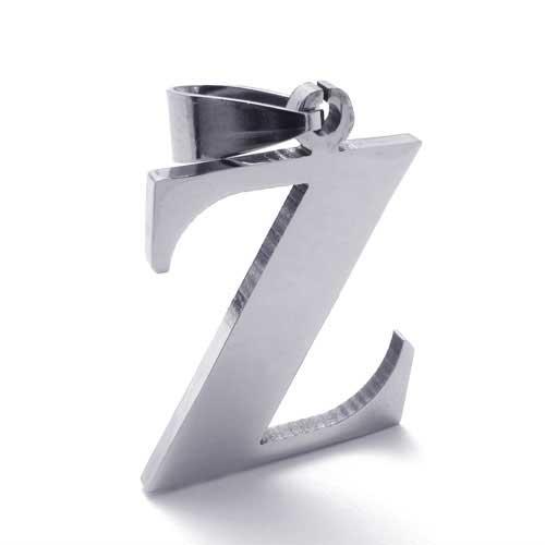 Буква Z - кулон из стали с цепочкой