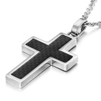"Кулон ""Carbon Fiber Cross"""