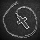 Кулон мужской в виде массивного креста