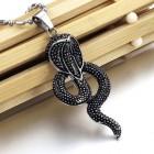 Кулон в виде змеи кобры из ювелирной стали 316L
