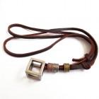 Мужской кулон на шею - куб с кожаным шнурком