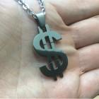 """Кулон в виде символа американской валюты """"Dollar"""""""