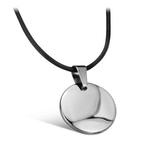 Кулон круглый из карбида вольфрама для гравировки