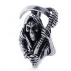 Скелет в плаще с косой в руках - кулон на шею с цепочкой