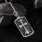 Стальной медальон с крестом