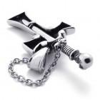 Крутейший кулон из двух частей: в виде креста и меча