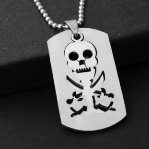 Стальной кулон-медальон в стиле пиратской тематики