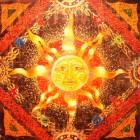 Славянский стальной кулон Бог Ярило
