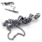 Кулон на шею в виде дракона, обвившего меч (вытаскивается)