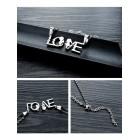 Два кулона для влюбленных с надписью LOVE с цепочками