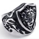 Кольцо-печатка в виде головы льва на щите