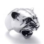 Кольцо в виде головы пумы из стали