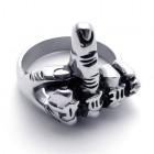 Кольцо мужское в виде фака - неприличного жеста - среднего пальца