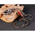 Брелок с наручником, пружиной и карабиновым замком