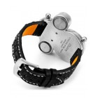 Кварцевые мужские наручные часы в черном стиле