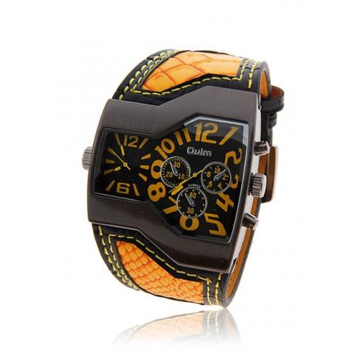 Часы наручные женские в оранжевом стиле кварцевые