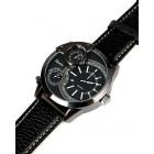 Мужские часы наручные черные кварцевые